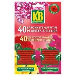 KB - Bâtonnet nutritif - plante à Fleurs - lot de 40