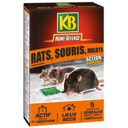 KB Home Défense  - Sachet céréale rat souris mulot rongeur
