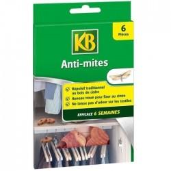 KB - 6 anti-mites répulsif au cedre