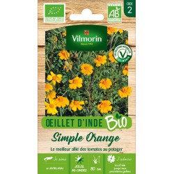 Vilmorin - Oeillet D'Inde Bio Simple orange