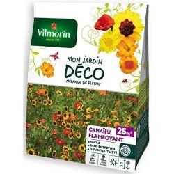 Vilmorin - Mélange de Fleurs Camaïeu Flamboyant 25m2