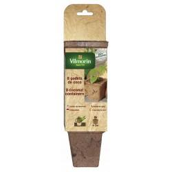 Vilmorin - 8 Godets Coco Carres 8cm