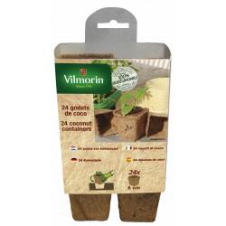 Vilmorin - 24 Godets Coco Carres 8cm