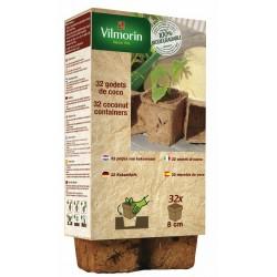 Vilmorin - 32 Godets Coco Carres 8cm