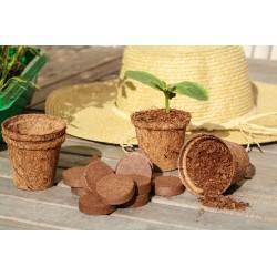 Vilmorin - Kit 12 Godets Coco 6cm + 12 Pastilles De Fibre De Coco Com