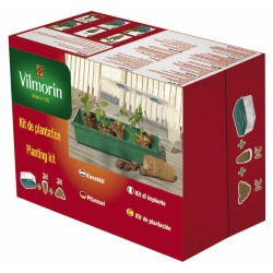 Vilmorin - Kit Serre Rigide + 24 Godets Coco 6cm + 24 Pastilles De Fi