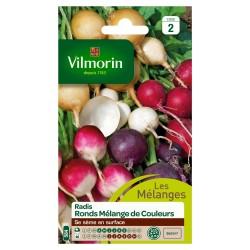 Vilmorin - Sachet graines Radis Ronds Mélange de Couleurs