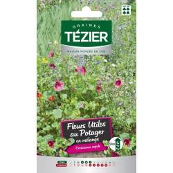 Tezier - Mélange de Fleurs utiles au potager -- Fleurs annuelles