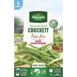 Vilmorin - Haricot Nain A Filet Sans Fil Crockett 5m -  ( 5 mètres )