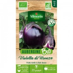 Vilmorin - Aubergine Violette De Florence Bio