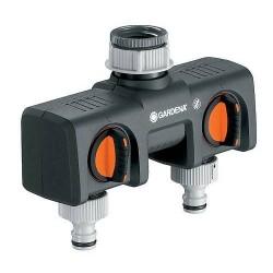 Gardena - Sélecteur 2 circuits - Pour robinets 20/27 et 26/34