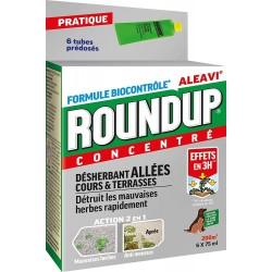 Roundup - Désherbant Allées Cours et Terrasses Tubes Pré-dosés, x6