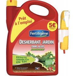 Fertiligène - Désherbants Cours, Allées, Terrasses, 5L